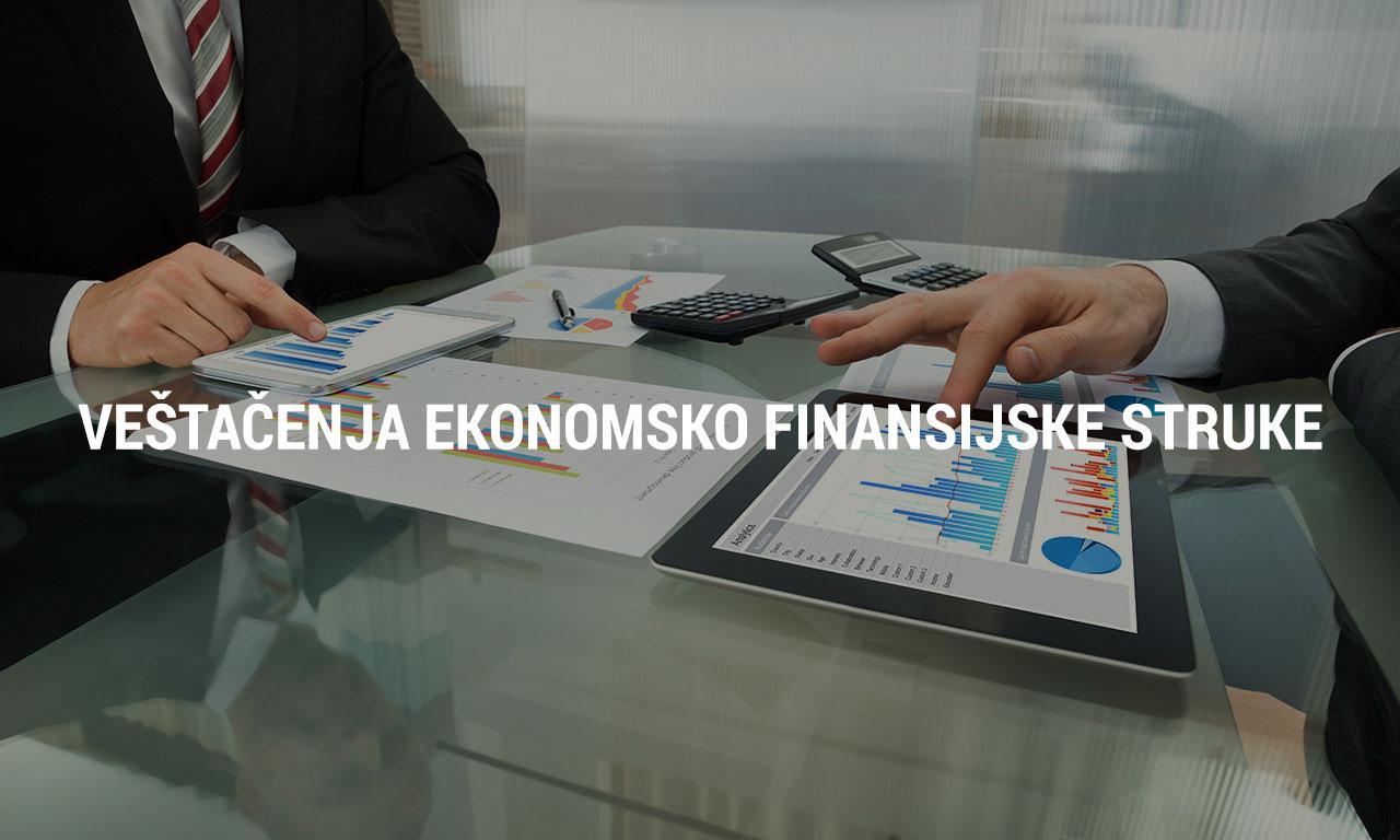 vestacenja ekonomsko-finansijske struke